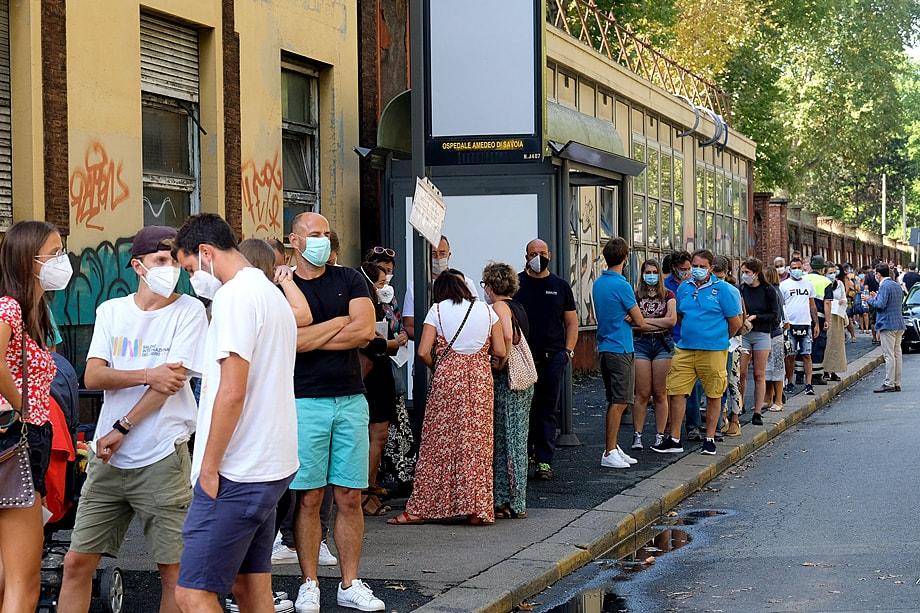 В Италии в период с 14 по 15 сентября число проведённых в стране тестов было увеличено вдвое.