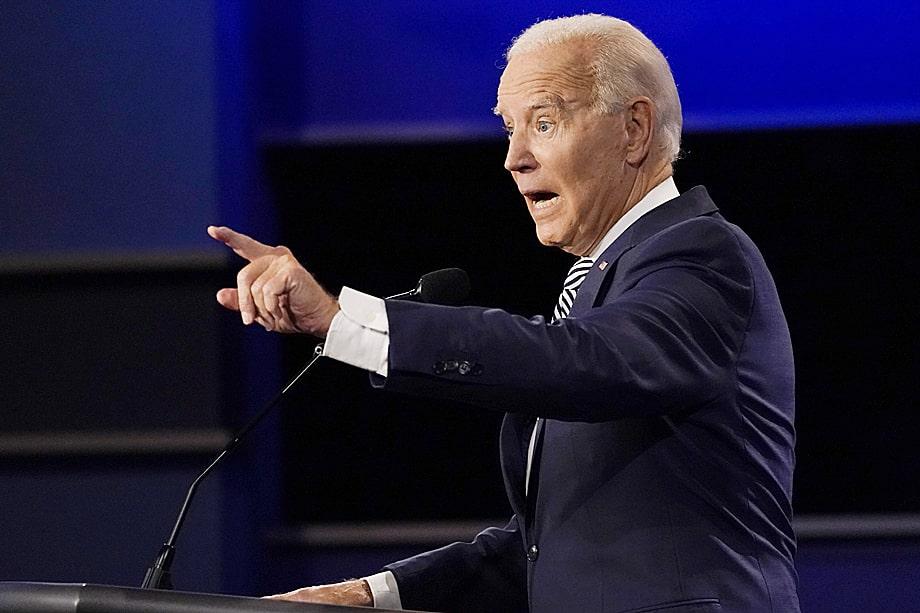 Джо Байден, кандидат в президенты США: «Дело в том, что всё, о чём он говорил до сих пор, – это просто ложь. Я здесь не для того, чтобы указывать на его ложь. Все знают, что он лжец».