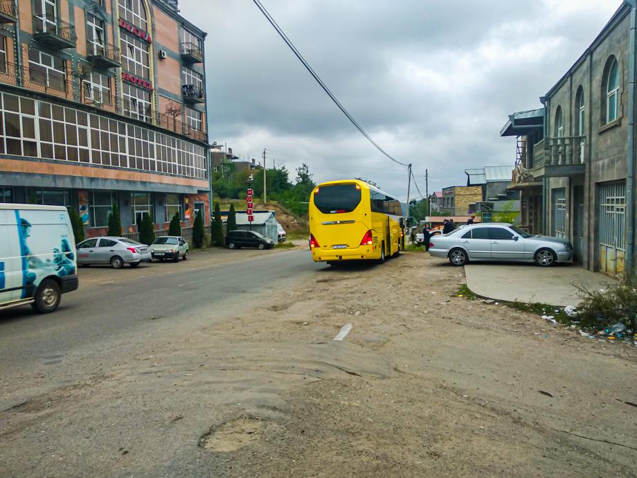 Автобус, на котором мы добрались до Карабаха.