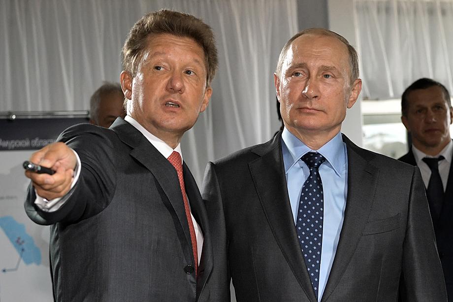 В конце марта Владимир Путин (на фото справа) поручил Алексею Миллеру (на фото слева) начать работу над технико-экономическим обоснованием «Силы Сибири – 2».