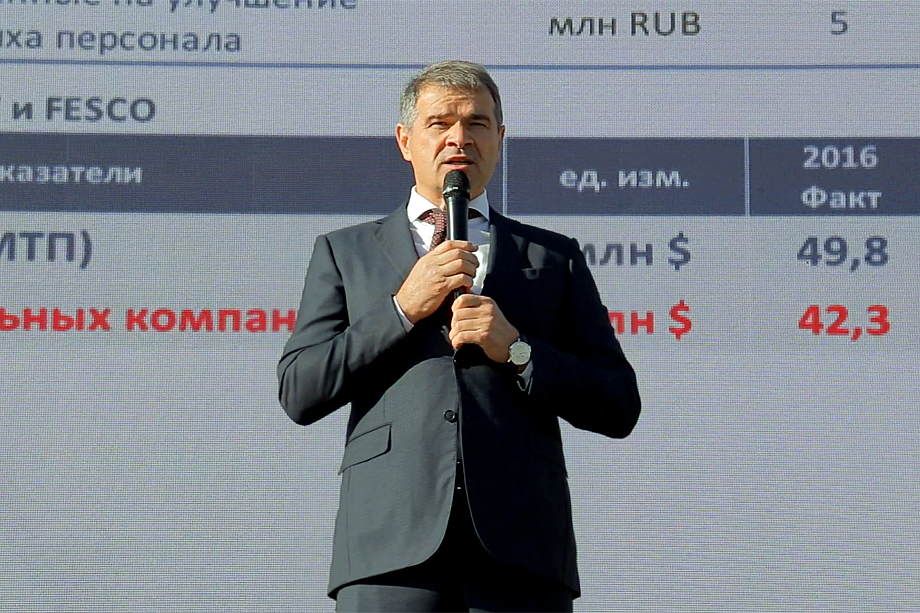 С 1 октября на ВМТП идут акции протеста: докеры выражают недовольство отставкой гендиректора Заирбека Юсупова (на фото).