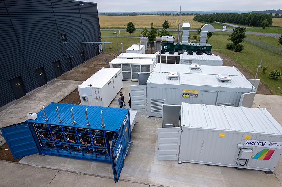 Торжественное открытие крупнейшего водородного завода в Германии.