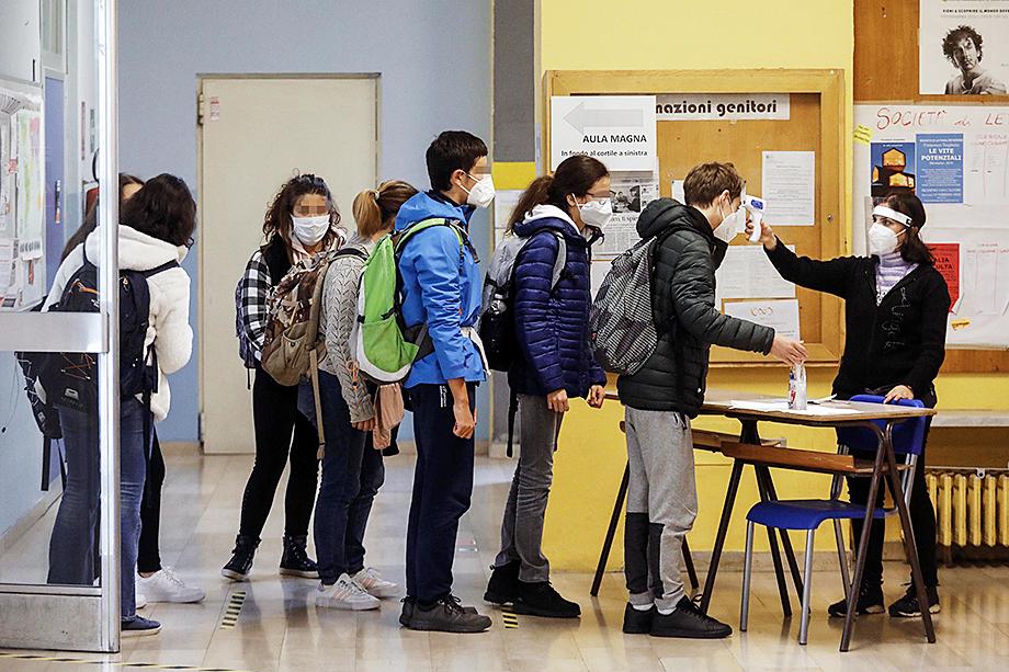 Занятия в учебных заведениях Италии продолжатся, но при соблюдении жёстких правил входа и выхода из учебного заведения и классов.
