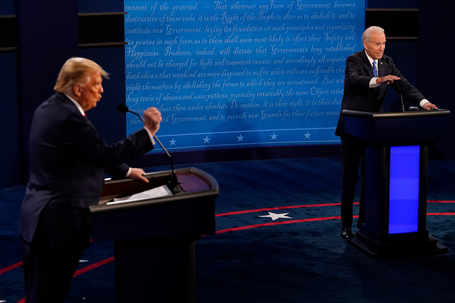 На грани ультиматумов полемика двух претендентов на пост президента США – Джо Байдена и Дональда Трампа.
