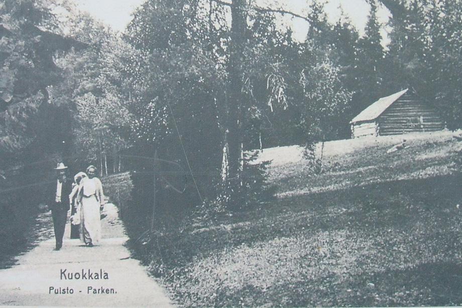 Прогулочная дорожка в парке Ридингера. 1910 год.