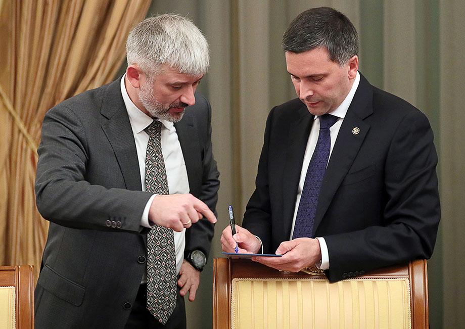 Евгений Дитрих и Дмитрий Кобылкин возглавляли министерства с 18 мая 2018 года.