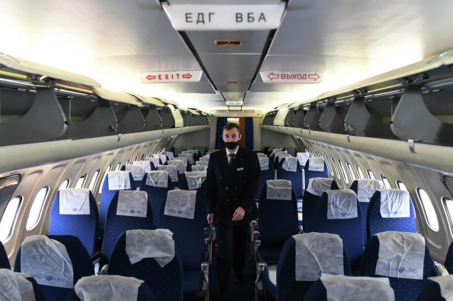 Всего в период с января по октябрь 2020 года в России обслужили 59,44 миллиона пассажиров.
