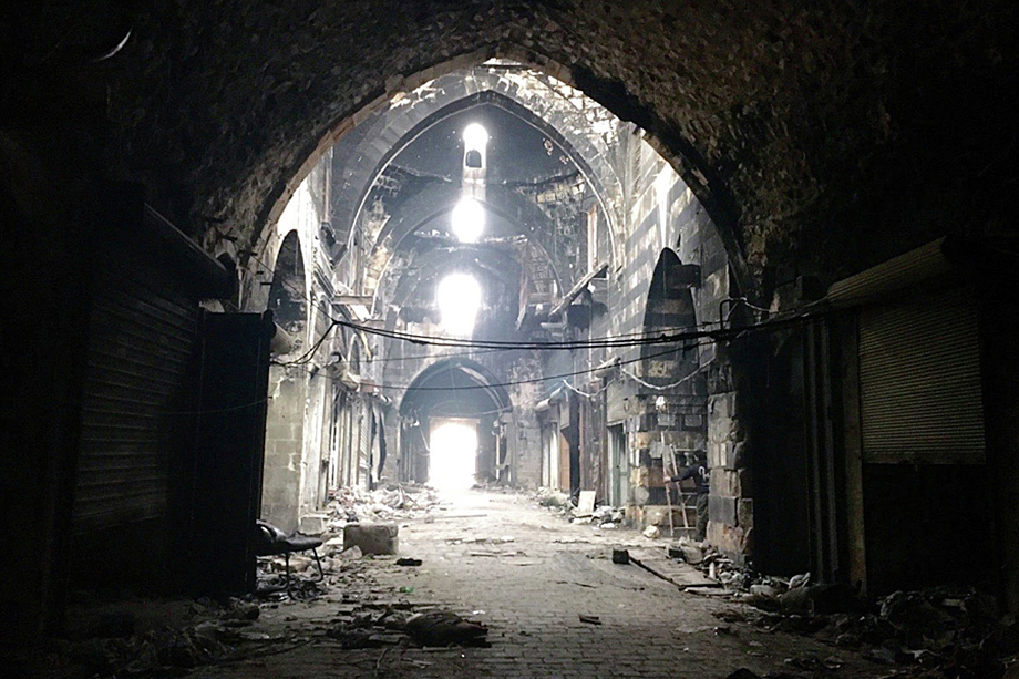 Руины рынка Сук в Алеппо.