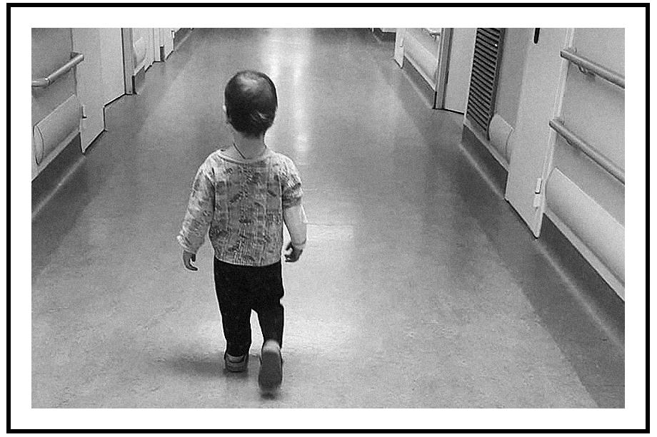 Арсений в один из первых дней в больнице.