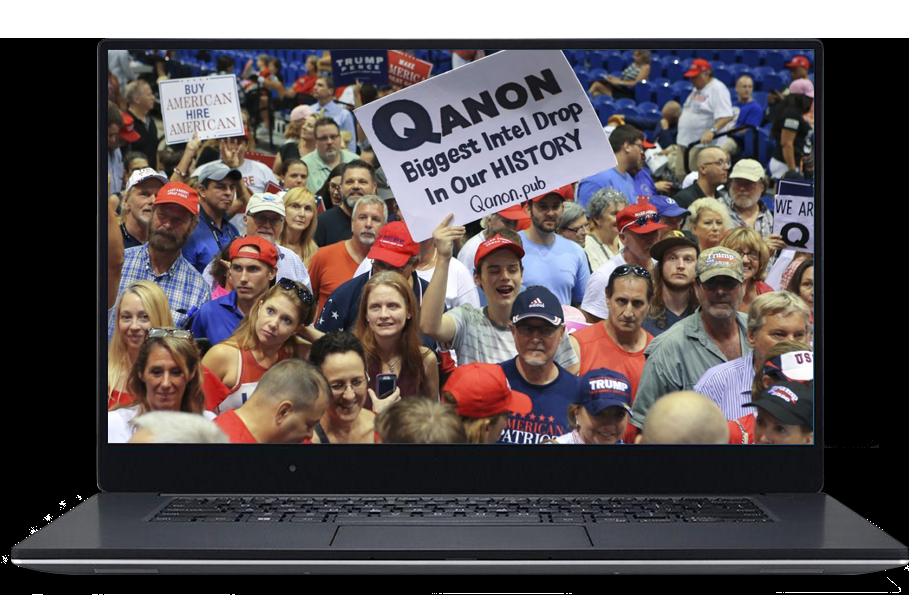 Под определение «фейк-ньюс» попали и сторонники популярной теории QAnon.