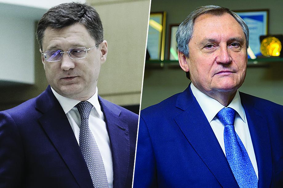 Министр энергетики: бывший – Александр Новак (слева), новый – Николай Шульгинов (справа).