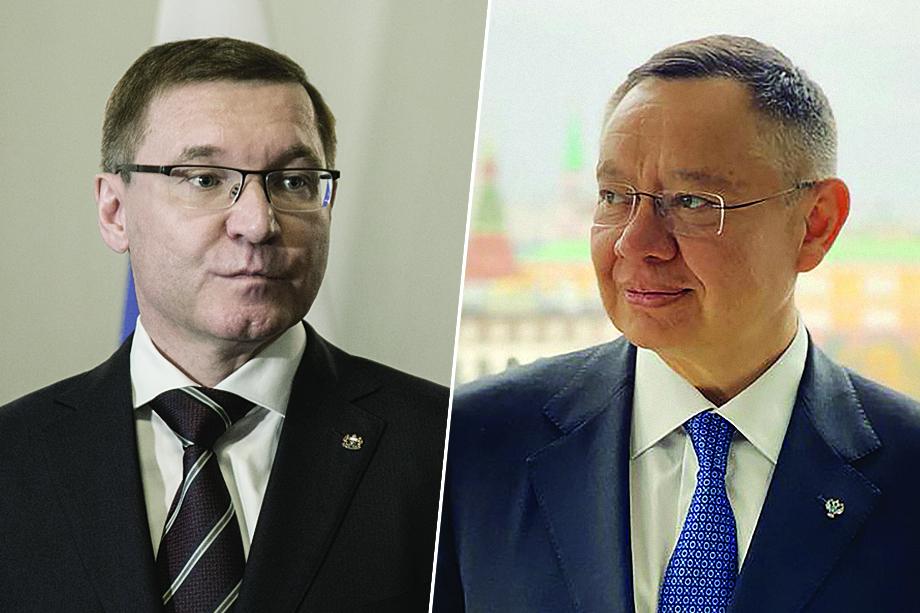 Министры строительства и ЖКХ: бывший – Владимир Якушев (слева), новый – Ирек Файзуллин (справа).