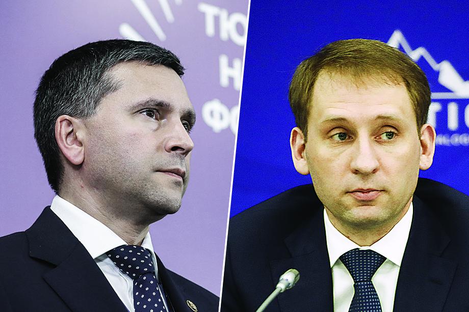 Министры природных ресурсов и экологии: бывший – Дмитрий Кобылкин (слева), новый – Александр Козлов (справа).