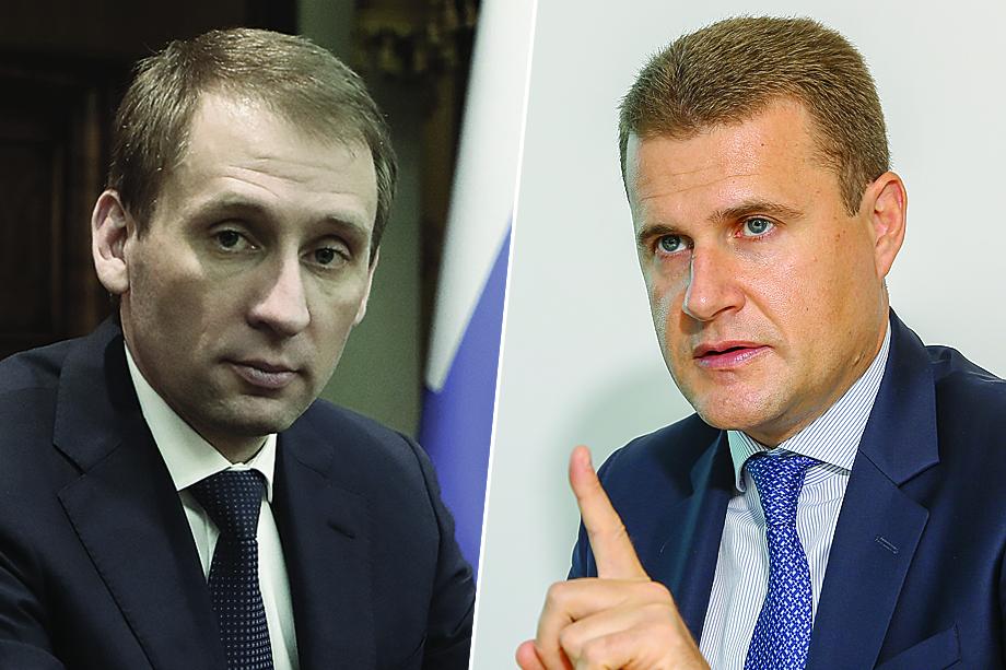 Министры по развитию Дальнего Востока и Арктики: бывший – Александр Козлов (слева), новый – Алексей Чекунков (справа).