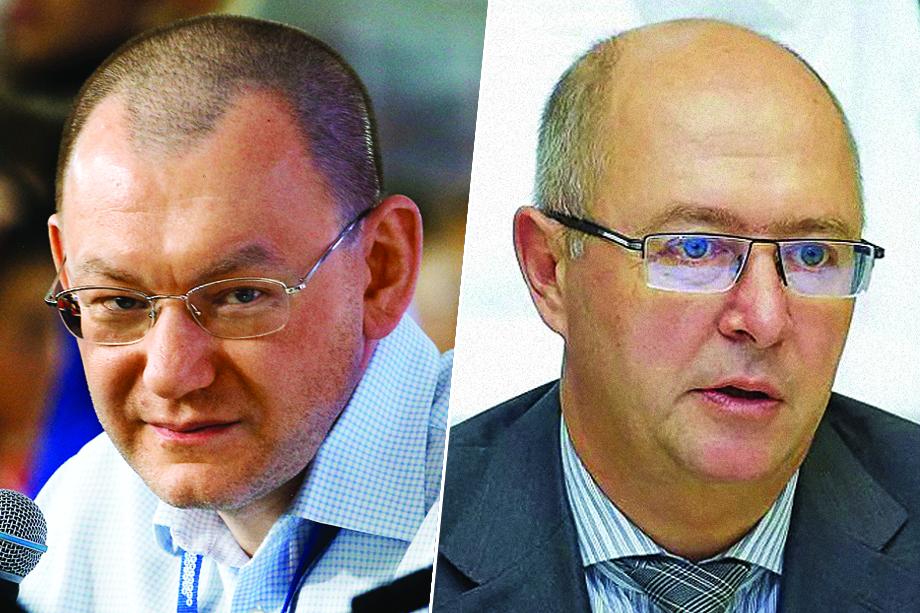 Разделение полномочий привело к путанице и затяжному аппаратному конфликту между Харичевым (на фото справа) и начальником УВП Андреем Яриным (на фото слева).