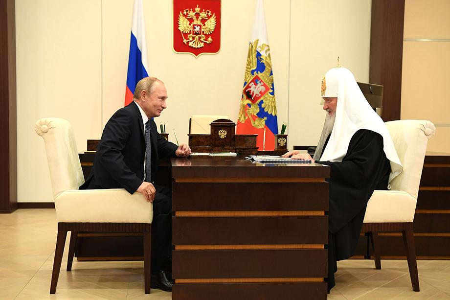 В последний раз Владимир Путин встречался с патриархом Кириллом в феврале этого года.