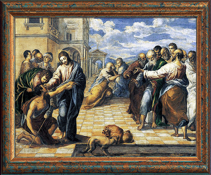 Эль Греко. «Исцеление слепого»