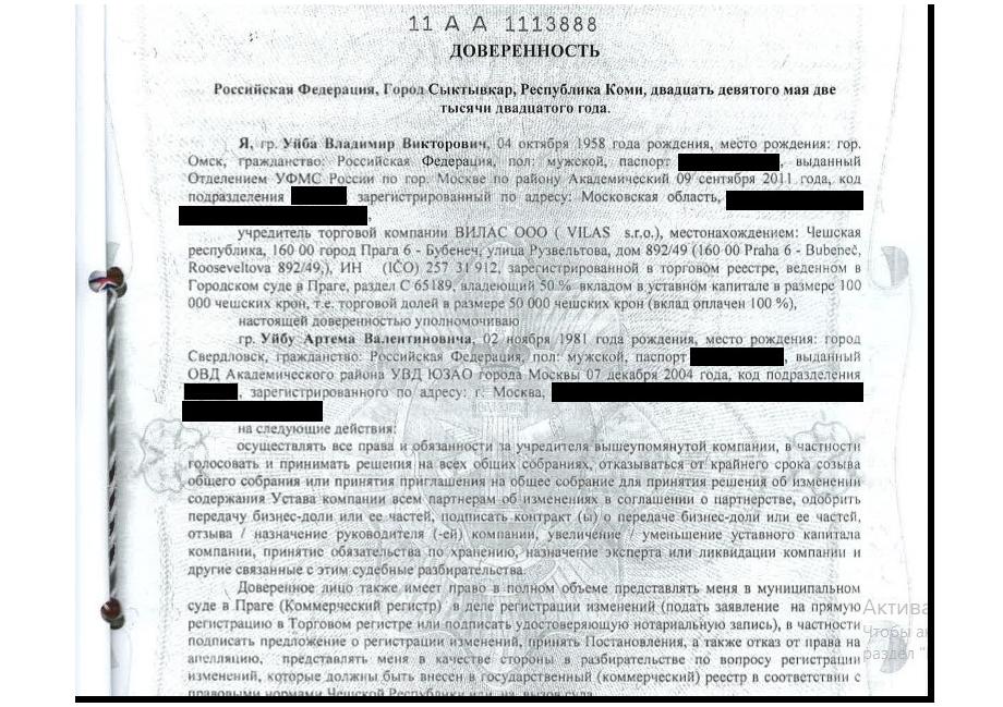 Врио губернатора доверил судьбу своей чешской фирмы сыну.