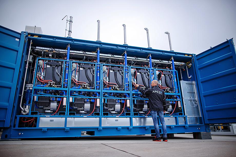 Германия – один из лидеров водородной энергетики. Одна из крупнейших водородных электростанций в Европе находится в германском Лаге (на фото).