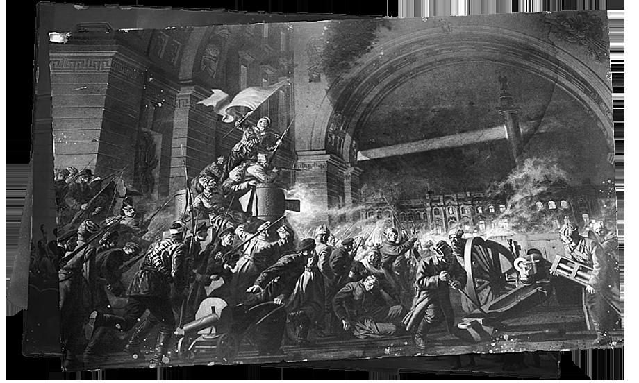 В конце лета 1917 года, когда разложившаяся армия была уже не способна удерживать фронт, крестьяне отказывались поставлять зерно и жгли помещичьи усадьбы, а Временное правительство утратило контроль над страной, русским офицерам пришлось сделать свой выбор.