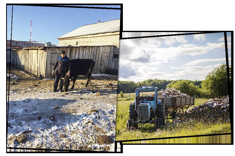 Земля, отданная в аренду, по слова Андрея Хренова (на фото слева), никак не обрабатывается. Раньше эти же участки находились в аренде у другой компании, тогда фермеров пускали на земли заготавливать сено и пасти скот.