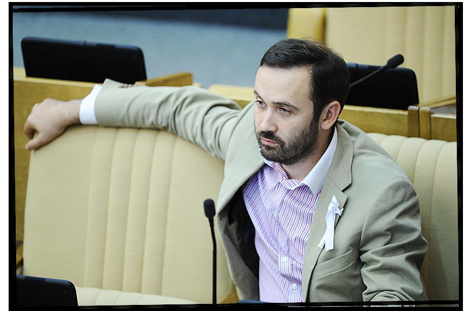 Илья Пономарёв на пленарном заседании Госдумы. 2012 год.