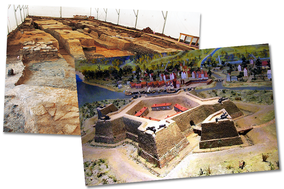 На месте планируемого строительства археологами были обнаружены уникальные памятники: объекты эпохи неолита, новгородское городище XVIII века, шведская крепость XVIII века, сооружения Охтинской верфи XIX века.