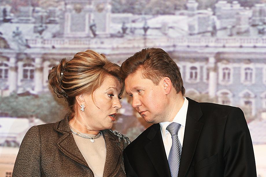 В 2005 году губернатор Санкт-Петербурга Валентина Матвиенко и Алексей Миллер согласовали перерегистрацию «Сибнефти» в Петербурге для увеличения налоговых поступлений в бюджет города.