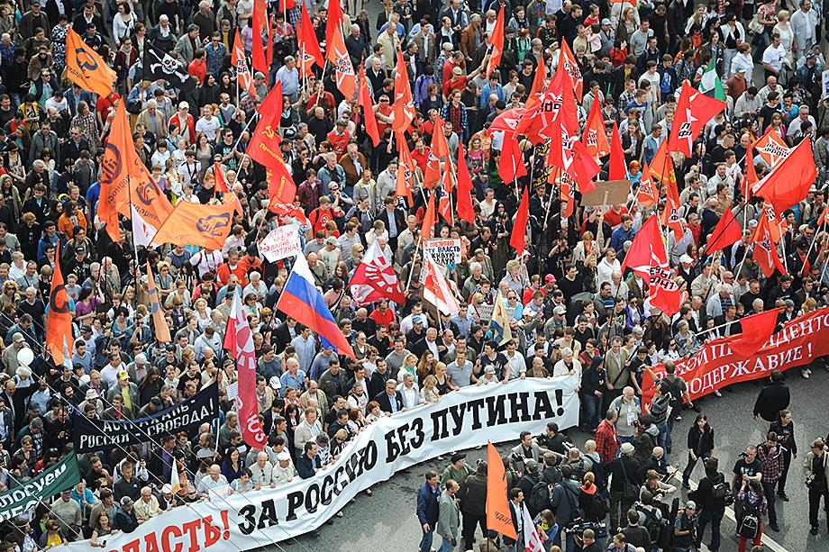 Временное затишье, установившееся к 2009 году после избрания президентом Медведева, было взорвано выдвижением Путина кандидатом на выборы президента в 2012 году.