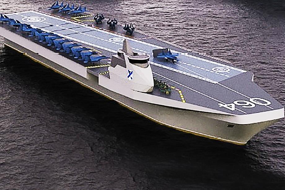 Водоизмещение «Варана» – около 45 тыс. тонн, длина – около 250 метров, ширина – 65 метров, осадка по конструктивной ватерлинии – 9 метров. Авианосец может передвигаться со скоростью до 26 узлов.