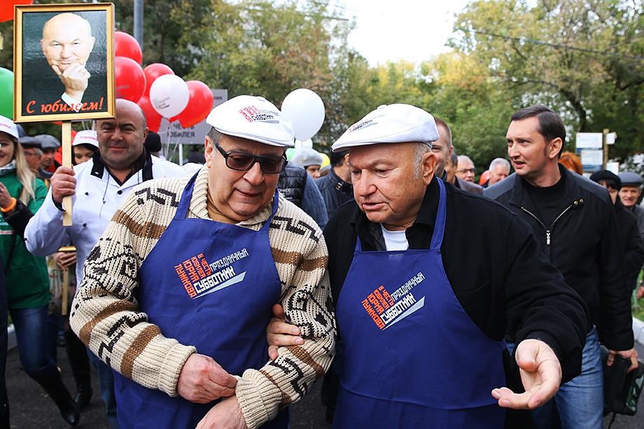 Благодаря поддержке Юрия Лужкова Хазанов получил должность в Московском театре эстрады.