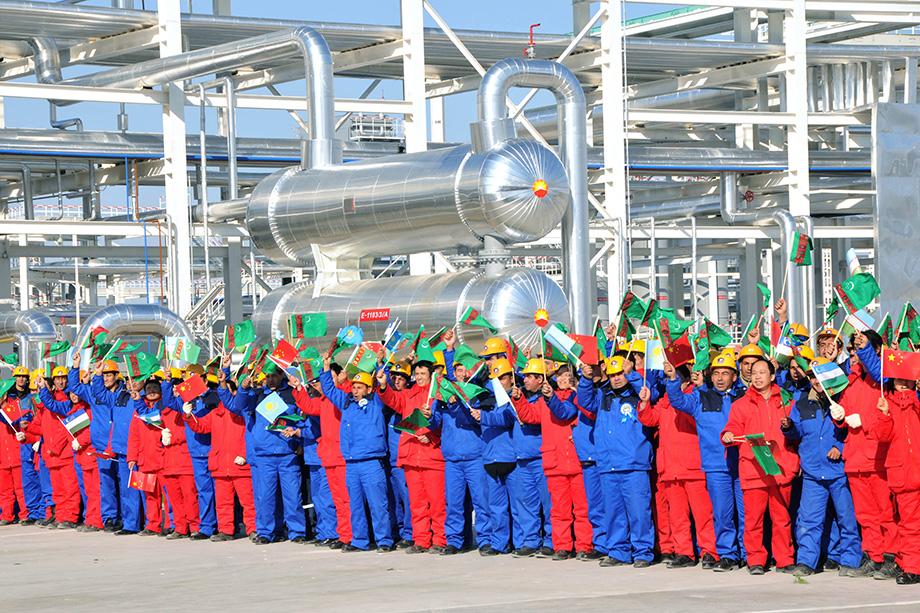 Официальная церемония открытия газопровода «ТрубопроводЦентральная Азия– Китай» состоялась 14 декабря 2009 года на месторожденииСамандепе в Туркменистане.