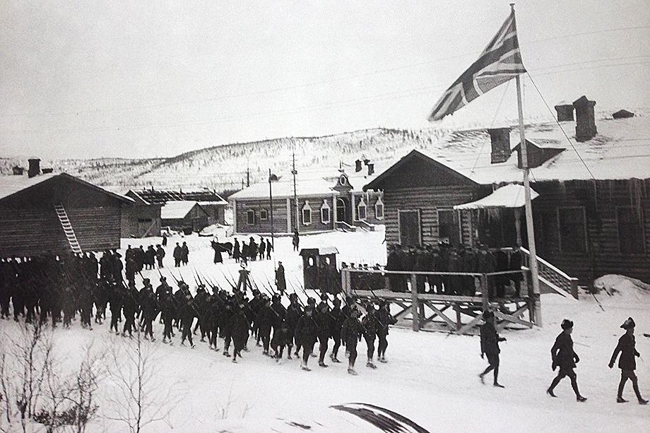 Войска стран Антанты в Мурманске. 1918 год.