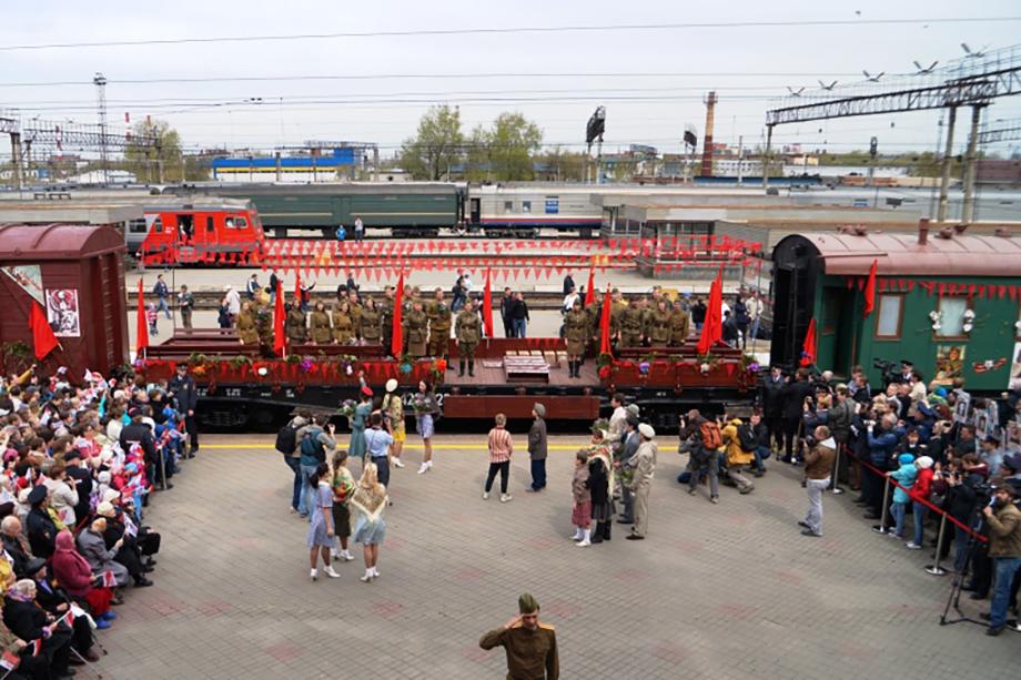 СвЖД организовала курсирование исторического эшелона в честь 76-й годовщины Победы в Великой Отечественной войне.
