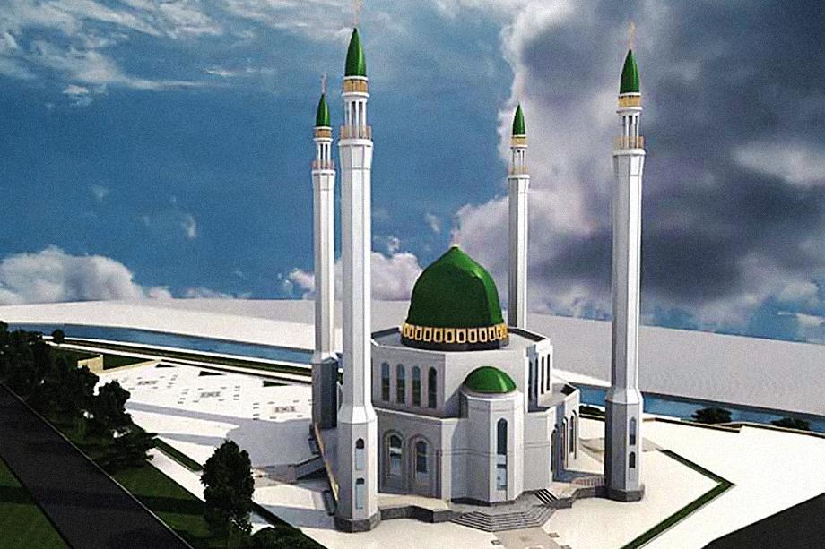 Проект Соборной мечети Екатеринбурга на набережной Исети.