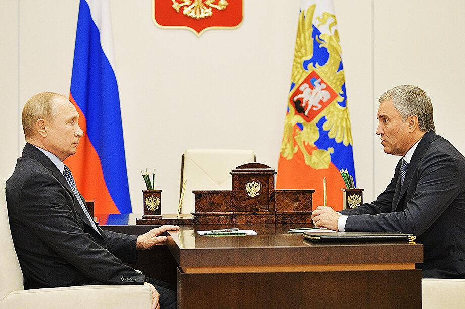 В окружении Володина говорили, что после аудиенции у президента он пребывал в приподнятом настроении.