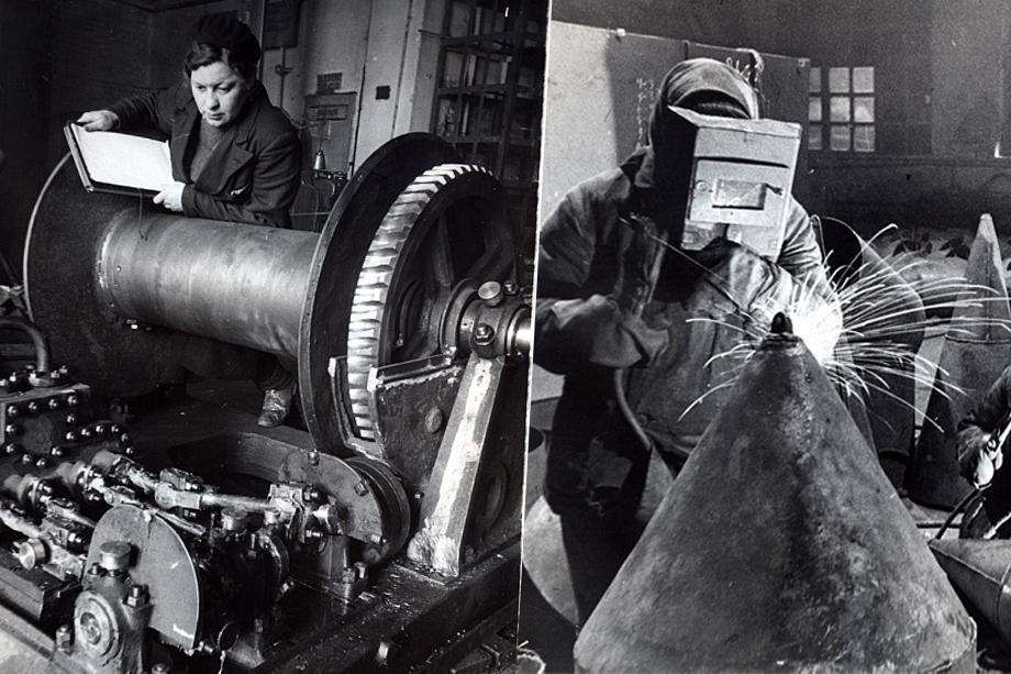 Работа на «Адмиралтейских верфях» в Санкт-Петербурге велась под постоянными артобстрелами и бомбардировками немецкой авиации.