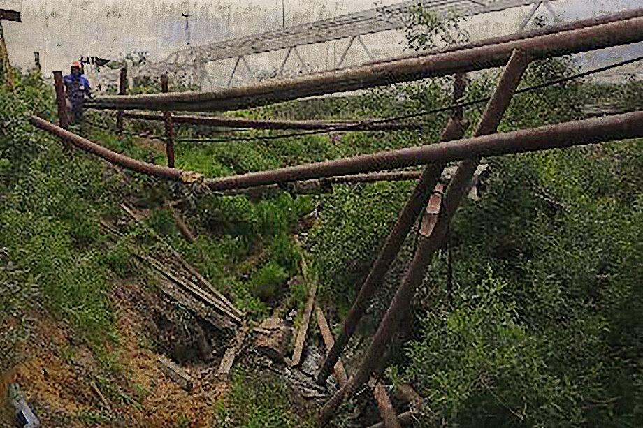 Место разгерметизации трубопровода компании «Норильсктрансгаз» в посёлке Тухард (240 километров от Норильска).