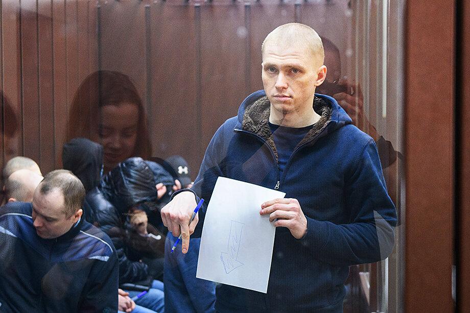 Константин Козловский во время судебного процесса.