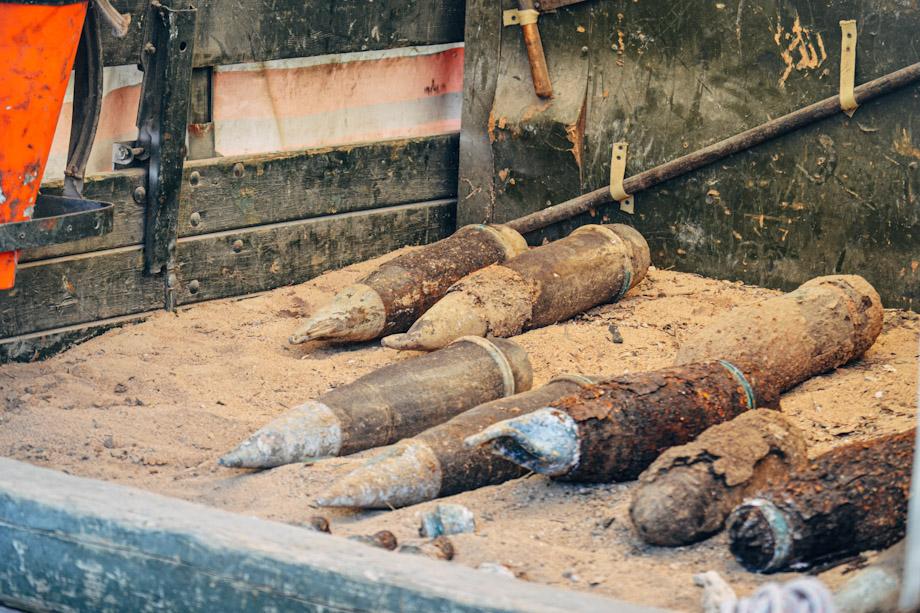 33 боеприпаса времен Великой Отечественной войны найдено на территории частного домовладения в Севастополе.