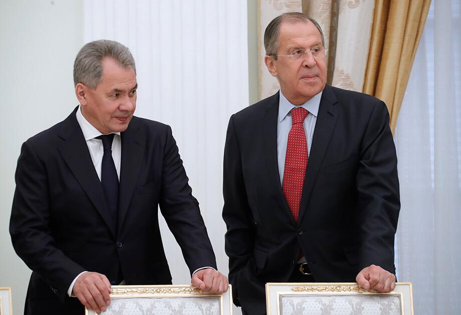Министр обороны Сергей Шойгу и глава МИД РФ Сергей Лавров.