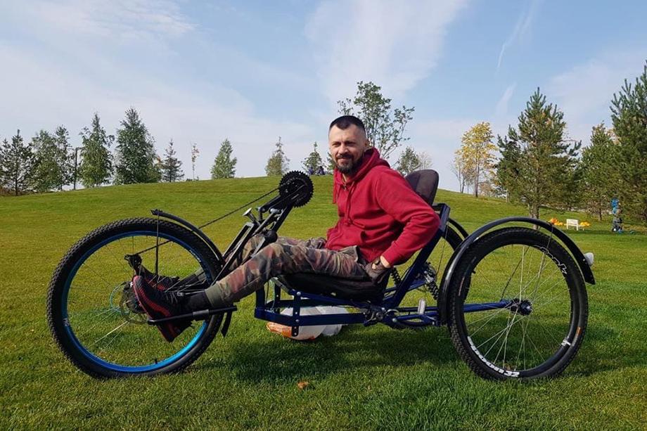 Первая модификация велосипеда.