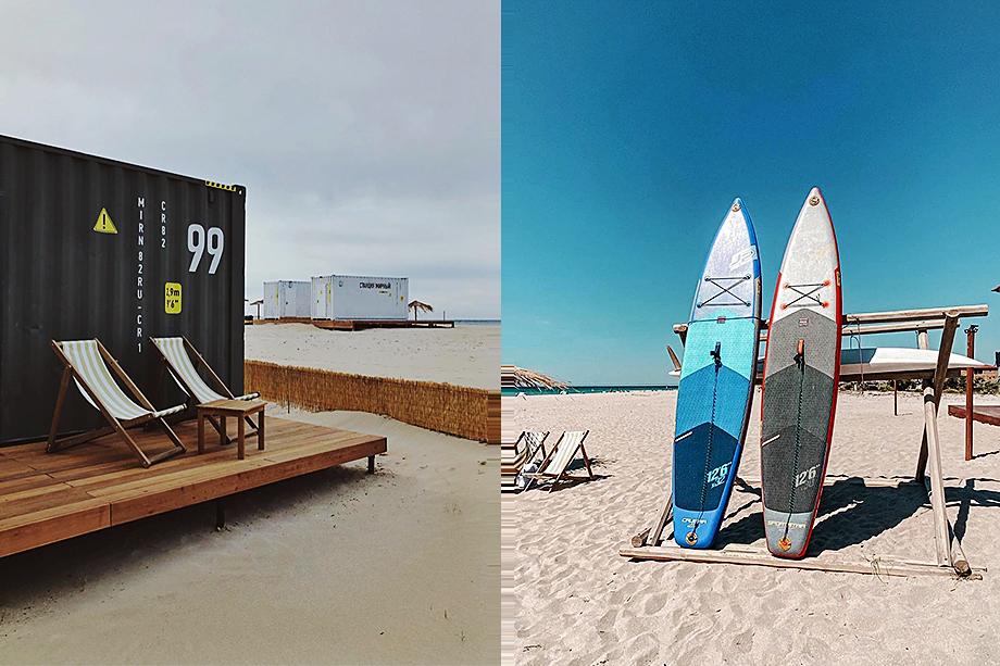 Мини-отель «Мирный» позиционирует себя как место для любителей сёрфинга и фильмов.