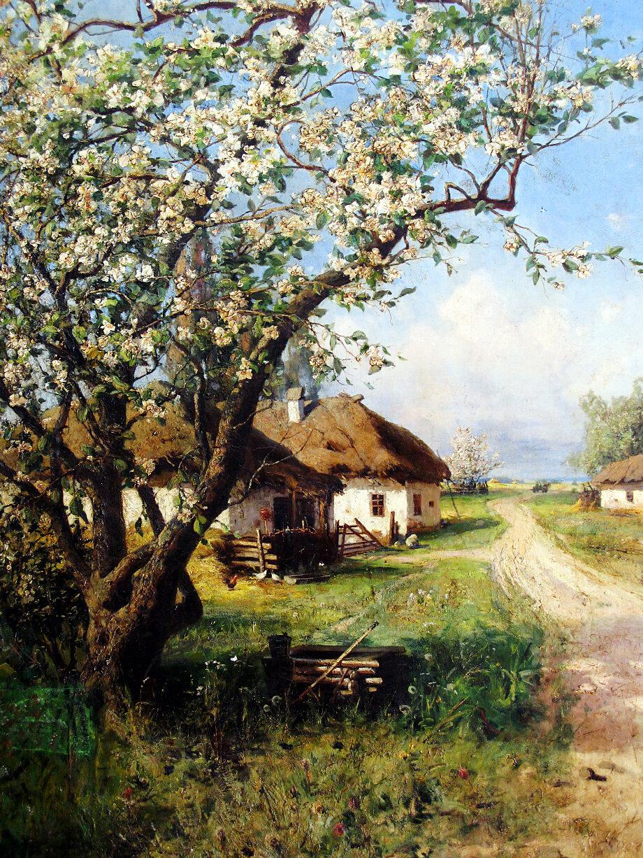 Юлий Клевер. «Весна в деревне».