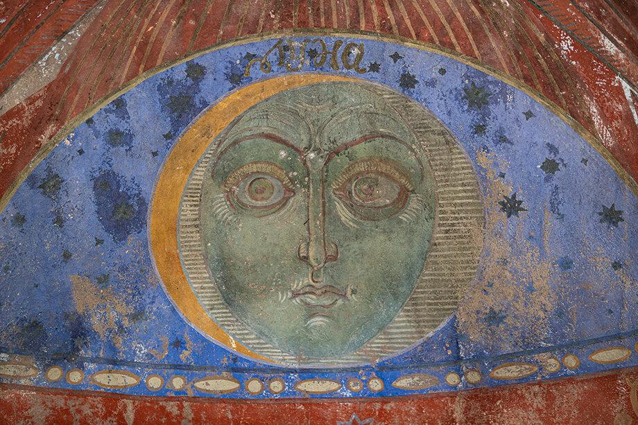 Фрагмент внутренней росписи Царского вокзала.