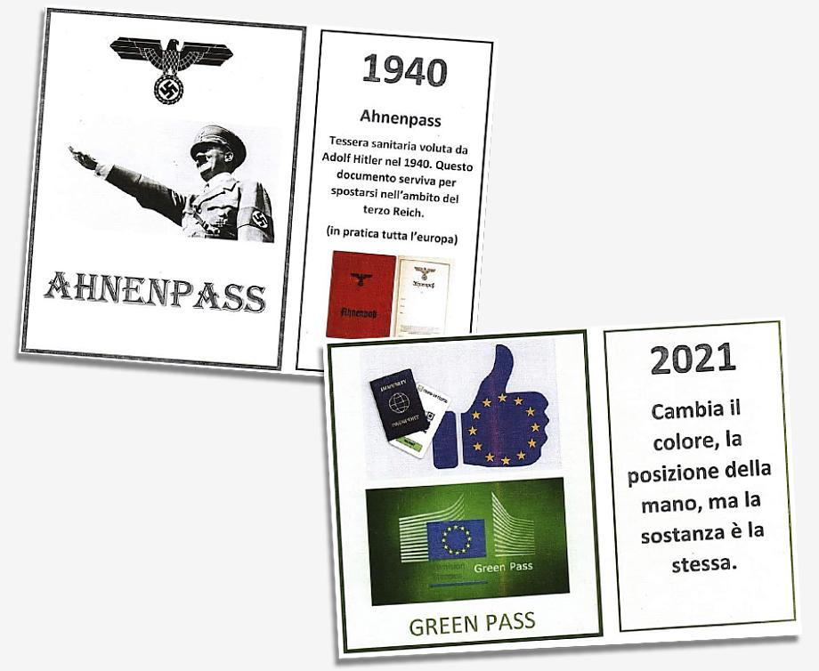 Green Pass сравнивали с Ahnenpass, подтверждавшим арийское происхождение владельца документа.