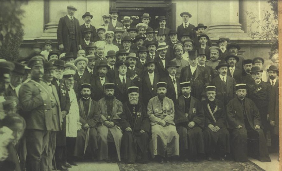 Фотография руководства Таврического и Одесского караимского духовного правления. 1916 год.