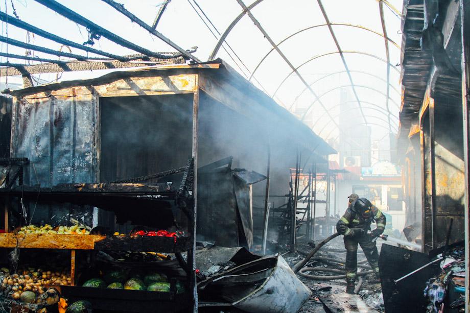 Площадь пожара на Шевченковском рынке составила 200 квадратных метров.