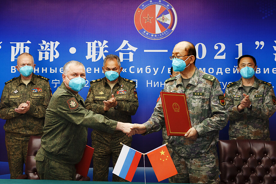 Подписание меморандума об установлении побратимских отношений между главным управлением международного военного сотрудничества Минобороны РФ и канцелярией по международному военному сотрудничеству Центрального военного совета КНР.