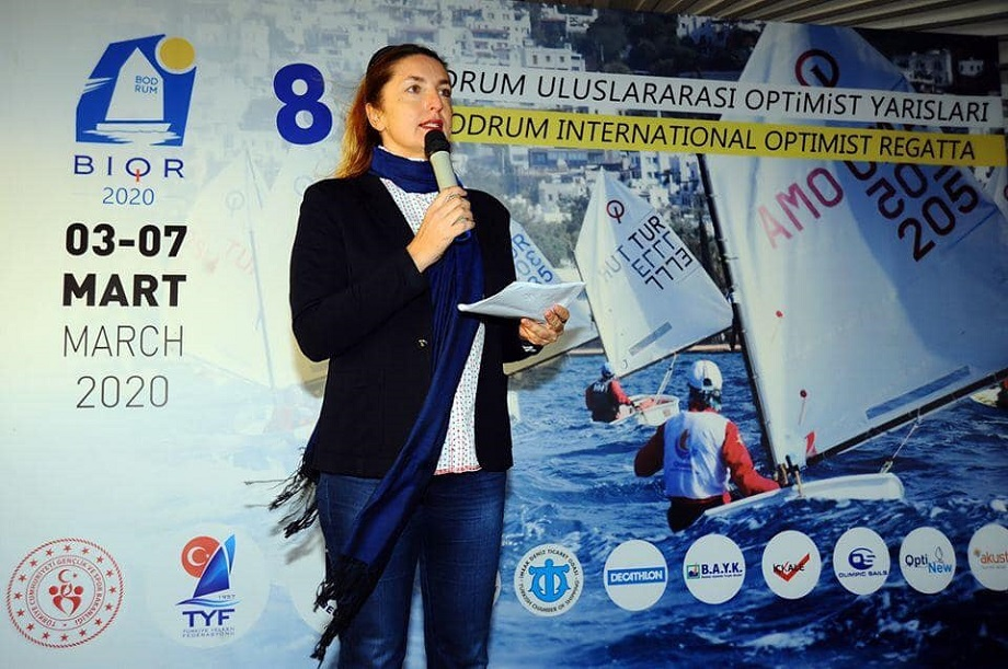 На международной регате в турецком Бодруме.